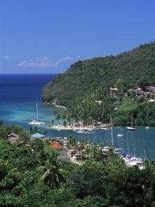 View Over Marigot Bay, St. Lucia, Windward Islands, West Indies, Caribbean, Central America by Yadid Levy
