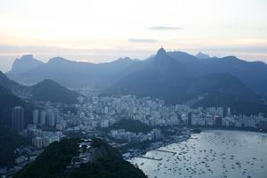 View over Rio de Janeiro Seen from the Top of the Sugar Loaf Mountain, Rio de Janeiro, Brazil by Yadid Levy