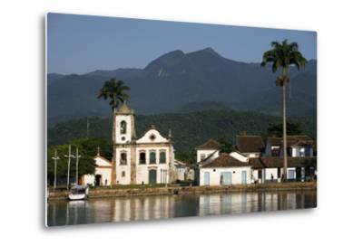 View over Santa Rita Church, Parati, Rio de Janeiro State, Brazil, South America