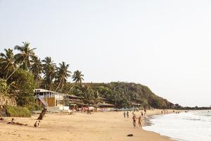 View over South Anjuna Beach, Goa, India, Asia by Yadid Levy