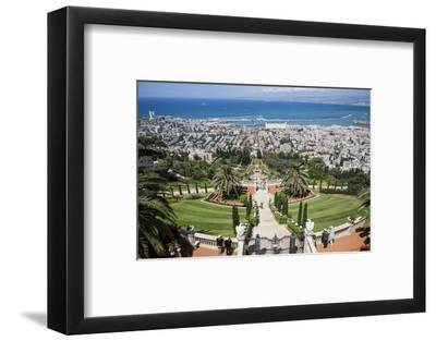 View over the Bahai Gardens, Haifa, Israel, Middle East