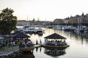View over the Buildings and Boats Along Strandvagen Street, Stockholm, Sweden, Scandinavia, Europe by Yadid Levy