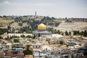 View over the Old City with the Dome of the Rock by Yadid Levy