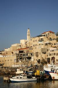 View over the Port and Old Jaffa, Tel Aviv, Israel, Middle East by Yadid Levy