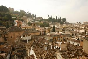 View over the Rooftops in the Albayzin, Granada, Andalucia, Spain, Europe by Yadid Levy