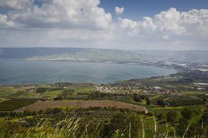 View over the Sea of Galilee (Lake Tiberias), Israel. Middle East by Yadid Levy