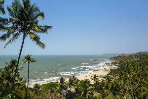 View over Vagator Beach, Goa, India, Asia by Yadid Levy