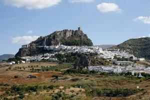 View over Zahara Village at Parque Natural Sierra De Grazalema, Andalucia, Spain, Europe by Yadid Levy