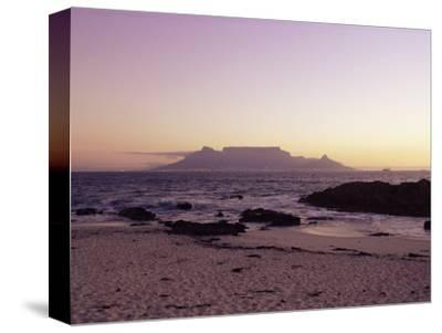 View to Table Mountain from Bloubergstrand, Cape Town, South Africa, Africa