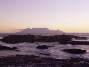 View to Table Mountain from Bloubergstrand, Cape Town, South Africa, Africa by Yadid Levy