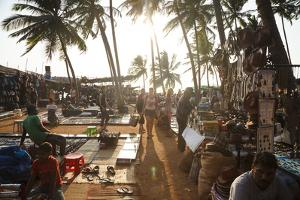 Wednesday Flea Market in Anjuna, Goa, India, Asia by Yadid Levy