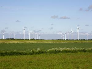 Wind Turbines in South Jutland, Denmark, Scandinavia, Europe by Yadid Levy