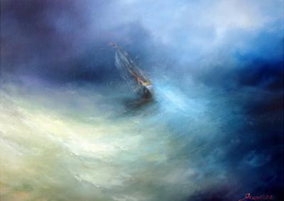 Seascape Storm In The Indian Ocean by yakimenko