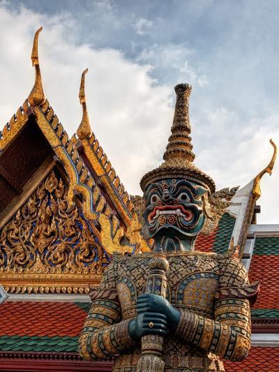 Yaksha at Wat Phra Kaeo the Grand Palace-Terry Eggers-Photographic Print