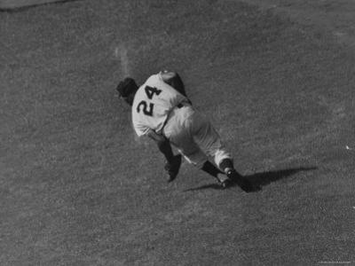 Action Shot of Willie Mays During the Giant Vs. Dodgers Game
