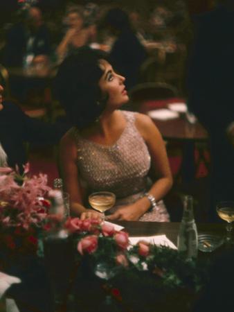 Actress Elizabeth Taylor in the Louis Sherry Bar, Metropolitan Opera Opening, New York, NY, 1959