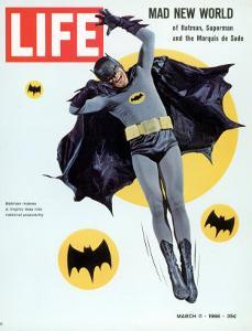 Adam West as Superhero Batman, March 11, 1966 by Yale Joel