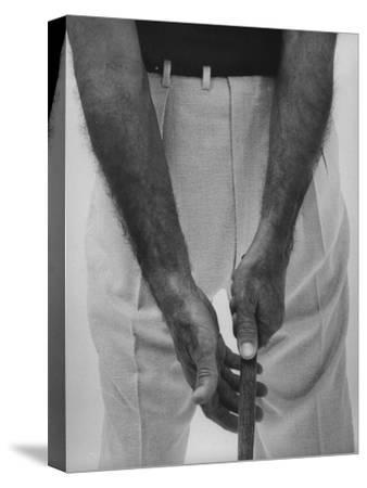 Ben Hogan, Close Up of Hands Grasping Club