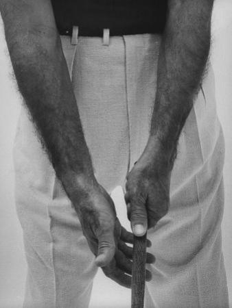 Ben Hogan, Close Up of Hands Grasping Club