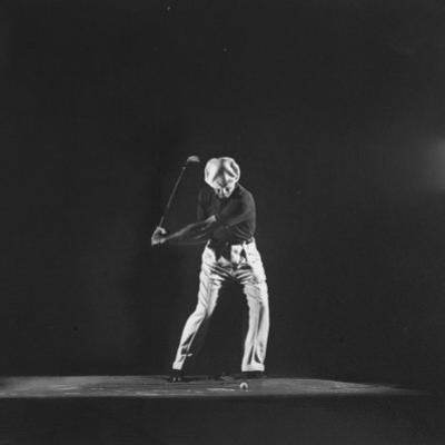 Ben Hogan, Posed in Action Swinging Club