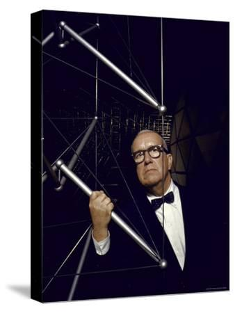 Buckminster Fuller Explaining Principles of Dymaxion Building