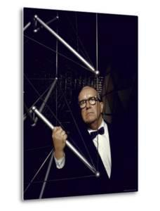 Buckminster Fuller Explaining Principles of Dymaxion Building by Yale Joel