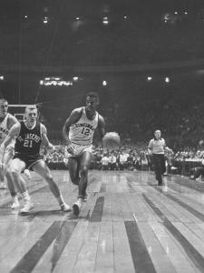 Captain of Cincinnati University Oscar Robertson During Game with St. Joseph's College by Yale Joel