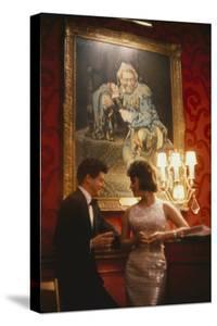 Eddie Fisher and Elizabeth Taylor in the Louis Sherry Bar, Metropolitan Opera, New York, NY, 1959 by Yale Joel