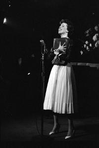 Entertainer Carol Burnett Singing a Comic Song About John Foster Dulles Who She Introduced, 1957 by Yale Joel