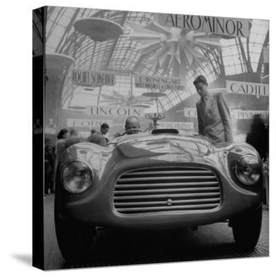 LE MANS 1958 STRETCHED AND FRAMED CANVAS