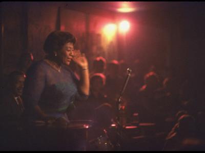 "Jazz Singer Ella Fitzgerald Performing at ""Mr. Kelly's"" Nightclub"