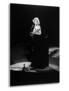 "Marilyn Monroe Singing ""Happy Birthday"" at Democratic Rally for President John F Kennedy's Birthday by Yale Joel"