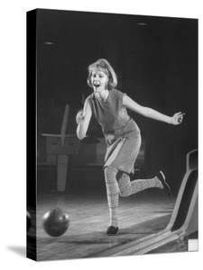 Model Wearing Bowling Costume by French Designer Nina Ricci by Yale Joel