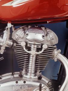 Motorcycles: Closeup of a Ducati Engine by Yale Joel