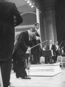 Music Conductor Leonard Bernstein by Yale Joel
