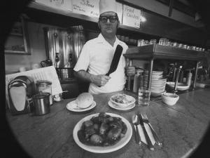 Owner-Chef Lowell Knapp, the Owner of the S&C Diner, Posing for the Camera by Yale Joel