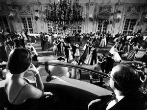 Participants Watching Couples Dancing During the Waltz Evening by Yale Joel