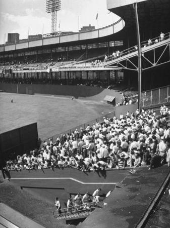 Scene from the Polo Grounds, During the Giant Vs. Dodgers Game
