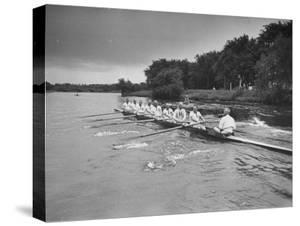 Sen. Leverett Saltonstall, Rowing the Canoe with His Fellow Classmates from the 1914 Harvard Crew by Yale Joel