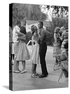 Teenager Suzie Slattery Dancing with Boyfriend Ted Sten by Yale Joel