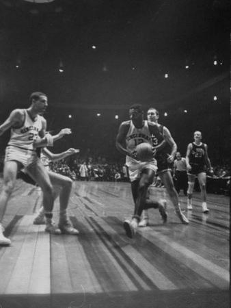 Univ. of Cincinnati Team Captain, Oscar Robertson During Game with Iowa University