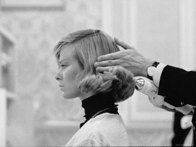 Woman Having Her Hair Styled at Hair Salon at Saks Fifth Avenue
