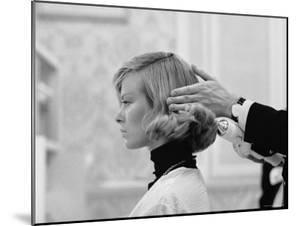 Woman Having Her Hair Styled at Hair Salon at Saks Fifth Avenue by Yale Joel