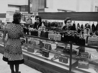 Women Shopping at a Handbag Sale at Saks 5th Ave