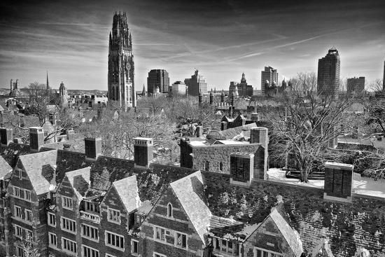 Yale University after a Winter Blizzard-Kike Calvo-Photographic Print