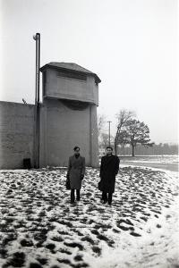 Guests Outside Norfolk Prison, Norfolk, MA, 1951 by Yale YALE JOEL