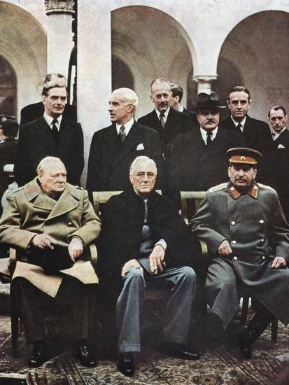 Yalta Conference of Allied Leaders, World War II, 4-11 February 1945 Giclee  Print by   Art com
