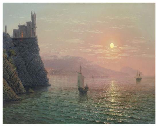 Yalta Sunset-A^ Gorjacev-Art Print