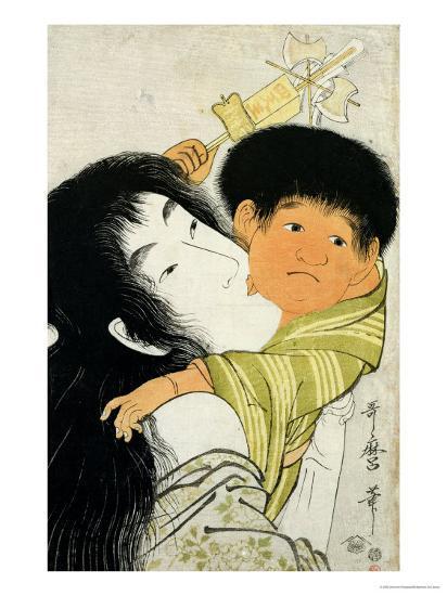Yama-Uba and Kintoki-Kitagawa Utamaro-Giclee Print