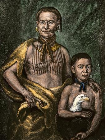 Yamacraw Chief Tomo-Chichi Mico and His Son